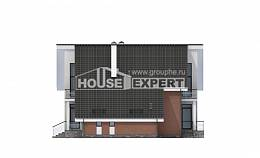200-007-R Two Story House Plans with mansard roof with garage under, a simple Design Blueprints
