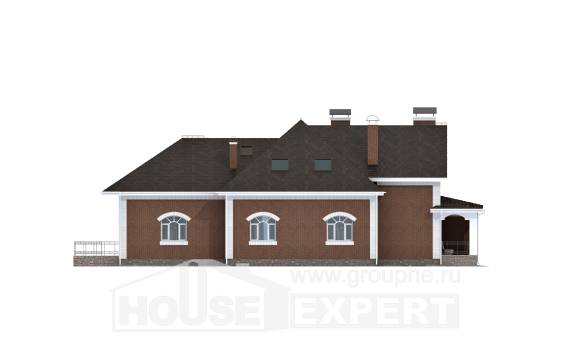 400-003-R Two Story House Plans with mansard roof, a huge Custom Home Plans Online,
