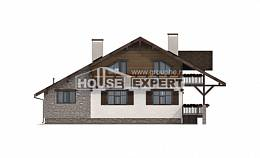 220-005-R Two Story House Plans with garage in front, a simple Home House,