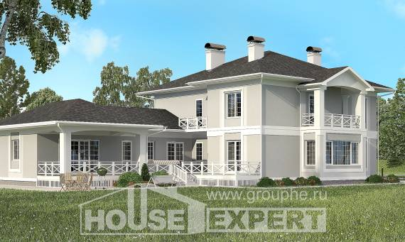 360-001-R Two Story House Plans with garage, cozy House Online,