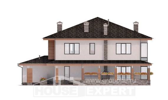 305-001-R Two Story House Plans and garage, luxury House Plans,