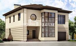 300-006-R Two Story House Plans with garage under, modern Home House,