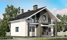 150-005-L Two Story House Plans and mansard, classic Building Plan