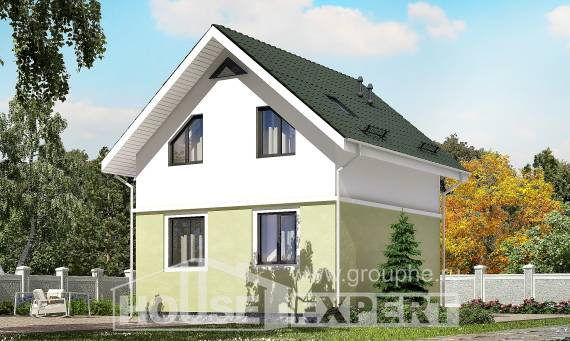 070-001-R Two Story House Plans and mansard, a simple Timber Frame Houses Plans,
