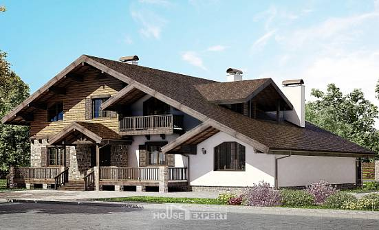 320-002-R Two Story House Plans with mansard roof, spacious Dream Plan,