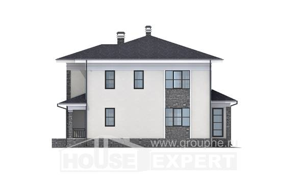 155-011-R Two Story House Plans, modern Construction Plans, House Expert