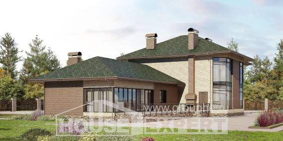 305-003-R Two Story House Plans, classic Blueprints, House Expert