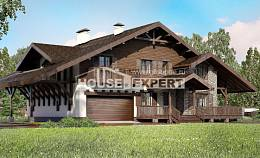 320-001-R Two Story House Plans with mansard roof with garage in back, classic Design House,