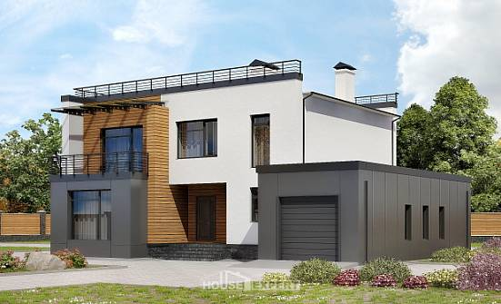 260-002-R Two Story House Plans and garage, luxury Tiny House Plans,