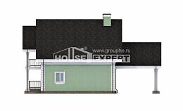 140-003-L Two Story House Plans with mansard with garage, cozy Ranch, House Expert