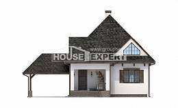 110-002-L Two Story House Plans and mansard with garage, beautiful Architects House,