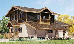 170-004-R Two Story House Plans and mansard with garage in front, classic Dream Plan,