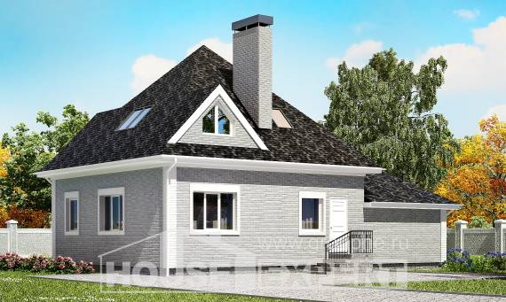 135-001-L Two Story House Plans with mansard roof with garage in front, modern Design House,