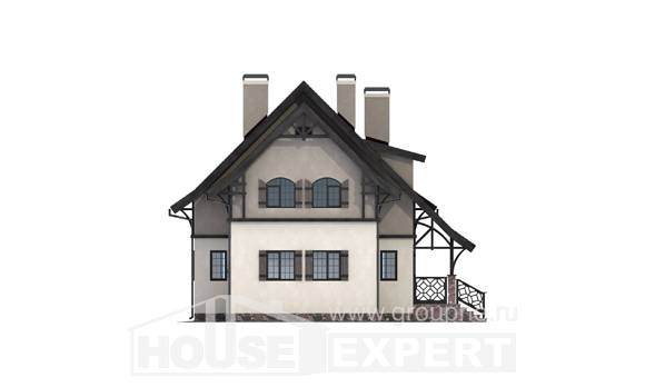 180-014-R Two Story House Plans and mansard, compact Online Floor,