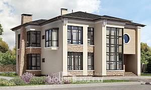 300-005-L Two Story House Plans, modern Floor Plan