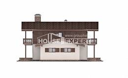 180-018-L Two Story House Plans and mansard with garage in front, best house Architects House, House Expert