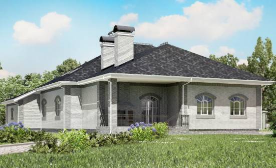 385-001-R Two Story House Plans with mansard roof and garage, big Villa Plan, House Expert