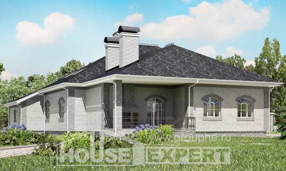385-001-R Two Story House Plans with mansard with garage under, classic Design House, House Expert