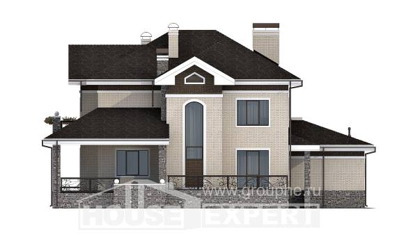 365-001-L Two Story House Plans and garage, cozy Blueprints of House Plans