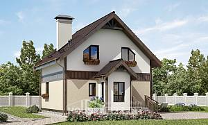 105-001-R Two Story House Plans with mansard roof, cozy Construction Plans