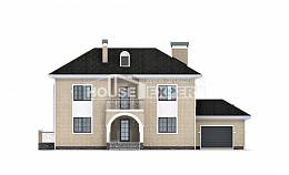 180-006-R Two Story House Plans and garage, a simple Floor Plan,