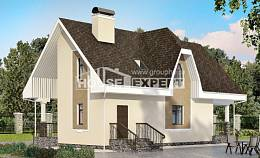 125-001-L Two Story House Plans with mansard roof, available House Blueprints, House Expert