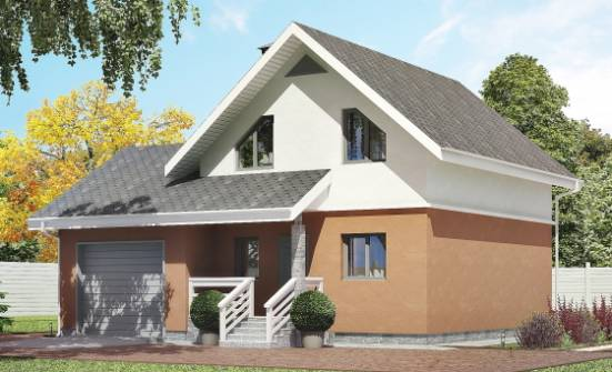 120-002-L Two Story House Plans with mansard roof and garage, compact Custom Home Plans Online, House Expert