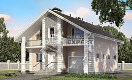 150-002-R Two Story House Plans and mansard with garage under, a simple Models Plans, House Expert
