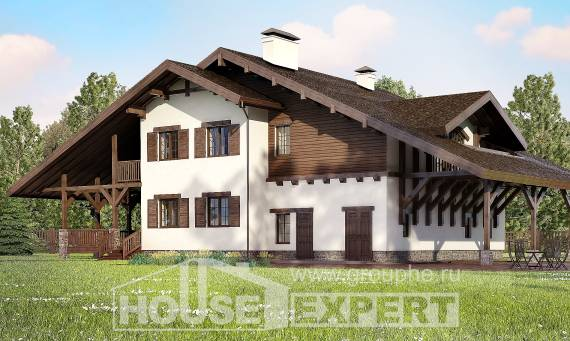 320-001-R Two Story House Plans and mansard with garage in back, a huge Home House,