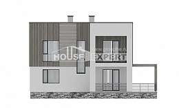 150-017-R Two Story House Plans, modest Construction Plans, House Expert