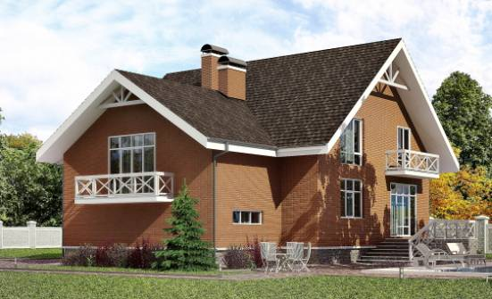 215-001-R Two Story House Plans and mansard with garage in front, average House Plans,