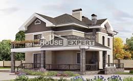 200-006-R Two Story House Plans, cozy Architect Plans, House Expert