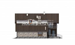 240-004-R Two Story House Plans and mansard with garage in front, spacious Home Blueprints, House Expert