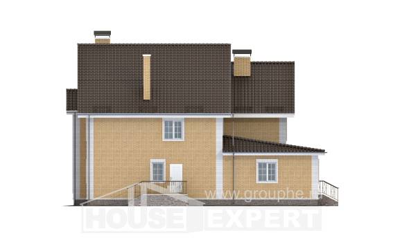 320-003-L Two Story House Plans, big Timber Frame Houses Plans,