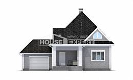 135-001-L Two Story House Plans with mansard with garage in front, small Models Plans,