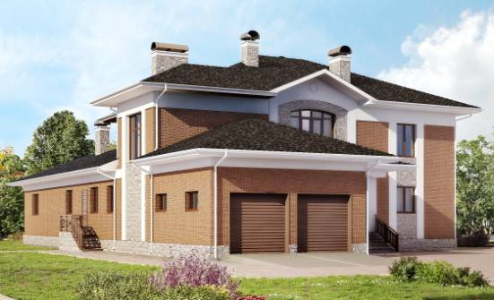 520-002-L Three Story House Plans with garage in back, modern Ranch,