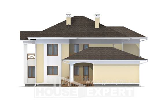 375-002-L Two Story House Plans with garage under, cozy Design Blueprints