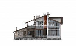 240-004-R Two Story House Plans and mansard and garage, spacious Design House, House Expert