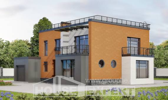 260-002-L Two Story House Plans with garage under, spacious Plans To Build
