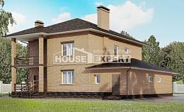 245-003-L Two Story House Plans and garage, classic Home Plans,