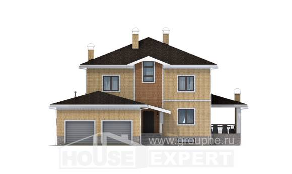 350-002-L Three Story House Plans with garage, luxury Tiny House Plans, House Expert
