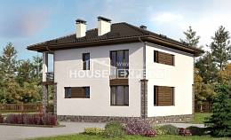 170-005-R Two Story House Plans, inexpensive House Building,