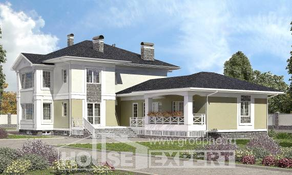 620-001-L Three Story House Plans with garage under, beautiful Architectural Plans,