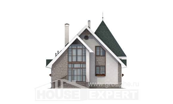170-003-L Two Story House Plans and mansard, the budget Design Blueprints, House Expert