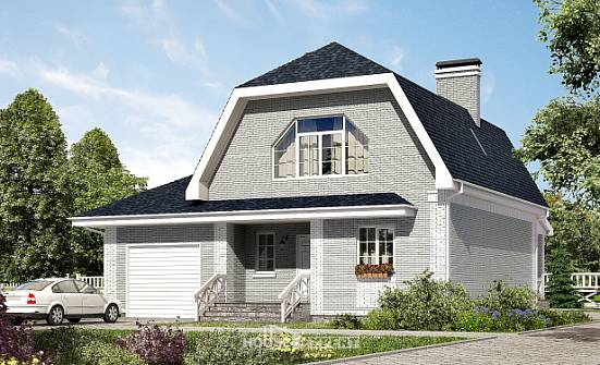 160-006-L Two Story House Plans with mansard roof with garage in back, inexpensive Planning And Design,