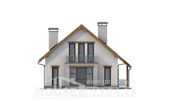 185-005-R Two Story House Plans with mansard roof with garage in back, best house Plans To Build,