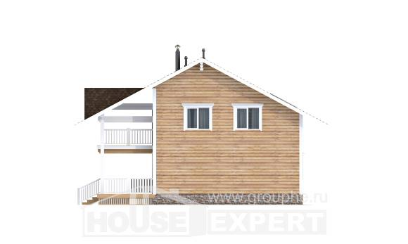 130-001-R Two Story House Plans with mansard, a simple Design Blueprints
