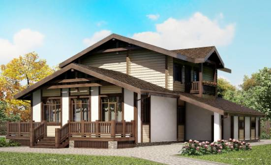 190-004-R Two Story House Plans and mansard and garage, modern Dream Plan,