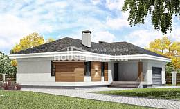 165-001-R One Story House Plans with garage, compact Blueprints of House Plans