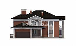 400-002-L Two Story House Plans with garage in front, classic Plans To Build